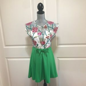 Dresses & Skirts - Beautiful Dress Multicolor Floral Embroidery